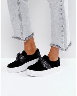 Bow Flatform Slip On Shoe