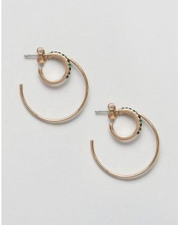 Round Double Earrings