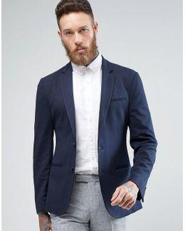 Super Skinny Blazer In Navy Jersey