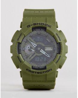 G-shock Ga-110lp-3aer Digital Silicone Watch In Green