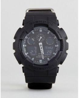 G-shock Ga-100bbn-1aer Digital Canvas Watch In Black