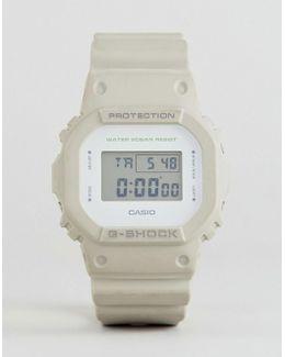 G-shock Dw-5600m-8er Digital Silicone Watch In Stone