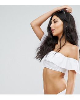 Ruffle Bardot Bikini Top