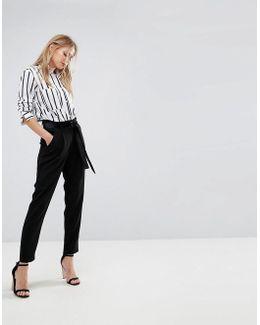Velvet Tie Pant