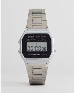 A158wea-1ef Digital Bracelet Watch In Silver