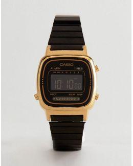 La670wegb Digital Bracelet Watch In Black
