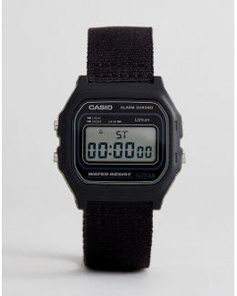 W-59b 1avef Digital Canvas Watch In Black