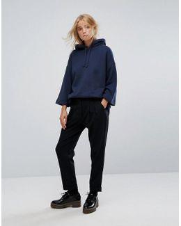 Wool Blend Peg Trousers