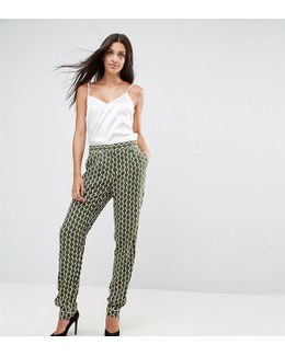Relaxed Pants In Geo Print
