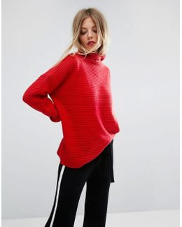 Lena Red Knitted Sweater