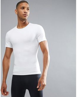 Performance T-shirt Zoned Hard Core In White