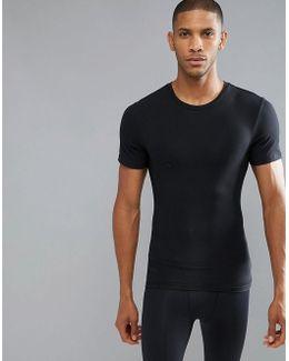 Cotton Compression T-shirt Hard Core In Black
