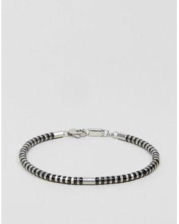 Chain Bracelet In Black & Silver