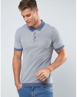 Man Polo Shirt In Blue