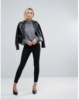 Crop Pants With Ankle Zip