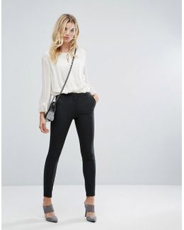 Ankle Length Trouser With Zip Detail