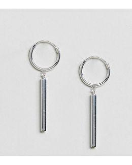 Sterling Silver Hoop & Bar Earrings