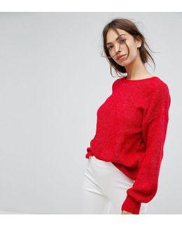 Oversized Sleeve Knitted Jumper