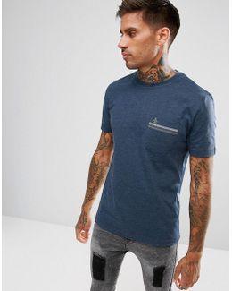 Pocket T-shirt Regular Fit In Blue Marl