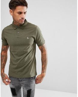 Pique Polo Heritage Slim Fit In Green Marl