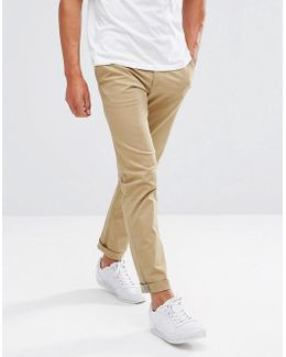 Slim Fit Chinos In Beige