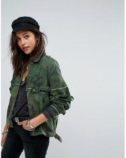 Slouchy Military Camo Jacket