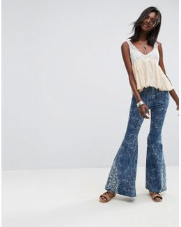 Embellished Float On Flared Jeans