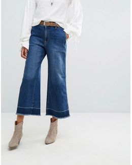 Vintage A Line Cropped Flared Jeans
