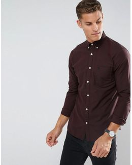 Slim Oxford Shirt With Embroidered Badge