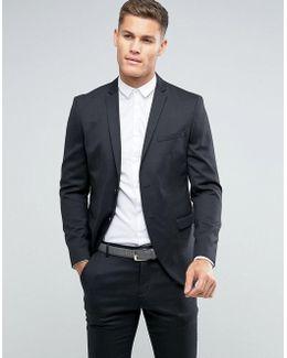 Slim Suit Jacket In Dark Gray