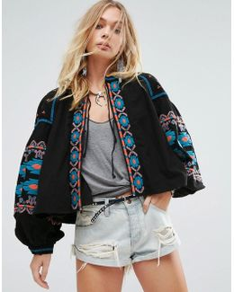 Swingy Embroidered Jacket
