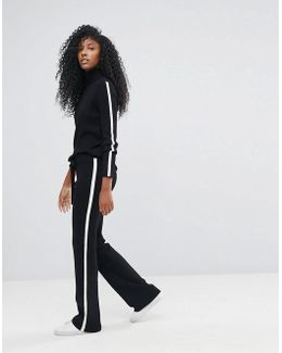Knitted Trouser With Stripe