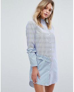 Miss Selfrdige Mix And Match Stripe Shirt Dress
