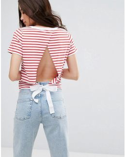 Exclusive Tie Back T-shirt