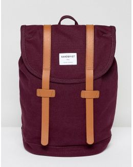 Stig Organic Cotton Backpack With Leather Straps