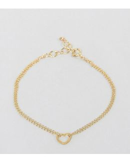 Gold Plated Friendship Small Open Heart Bracelet