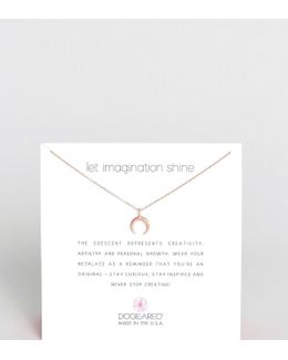 Rose Gold Plated Let Imagination Shine Crescent Necklace