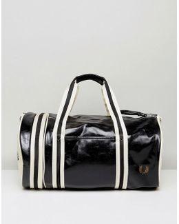Barrel Bag Black/cream