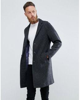 Man Overcoat In Grey