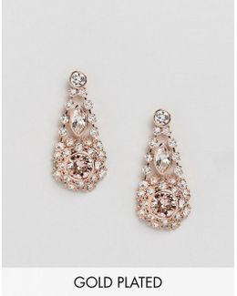 Somaa Crystal Daisy Lace Drop Earrings