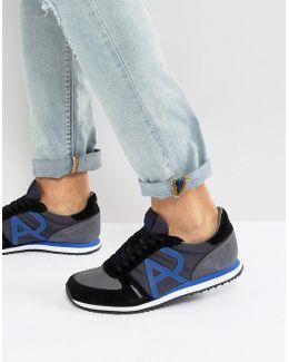Logo Runner Sneakers In Black