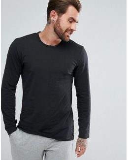 Crew Neck Top In Black