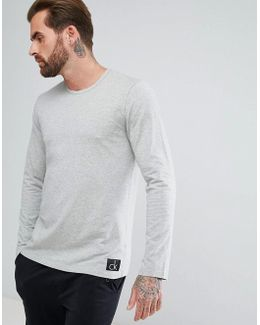 Crew Neck Top In Grey