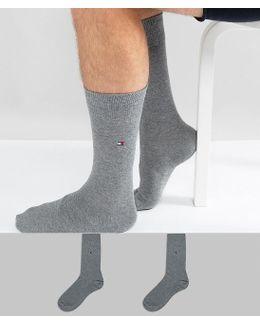 Classic 2 Pack Sock In Grey