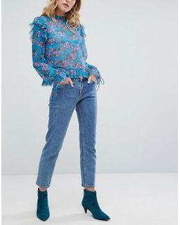 Monokomi Cropped Straight Leg Jeans