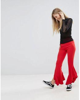 Frill Hem Trousers