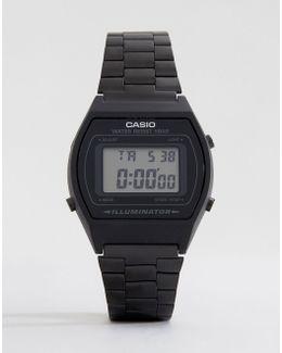 B640wb-1aef Digital Black Stainless Steel Watch