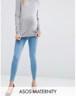 Ridley Skinny Jeans In Anais Wash With Under The Bump Waistband