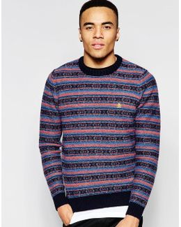 Striped Wool Knitted Jumper