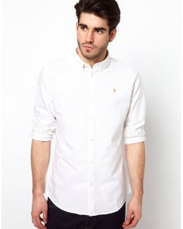 Brewer Slim Fit Oxford Shirt In White